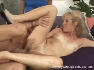 Swinger Wife Screwed In Front Of Happy Hubby!