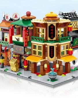 【唐人街Lego 中華街街景益智積木】