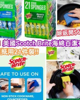 【🇺🇸美國Scotch海綿百潔布(21件裝)】K2207202104