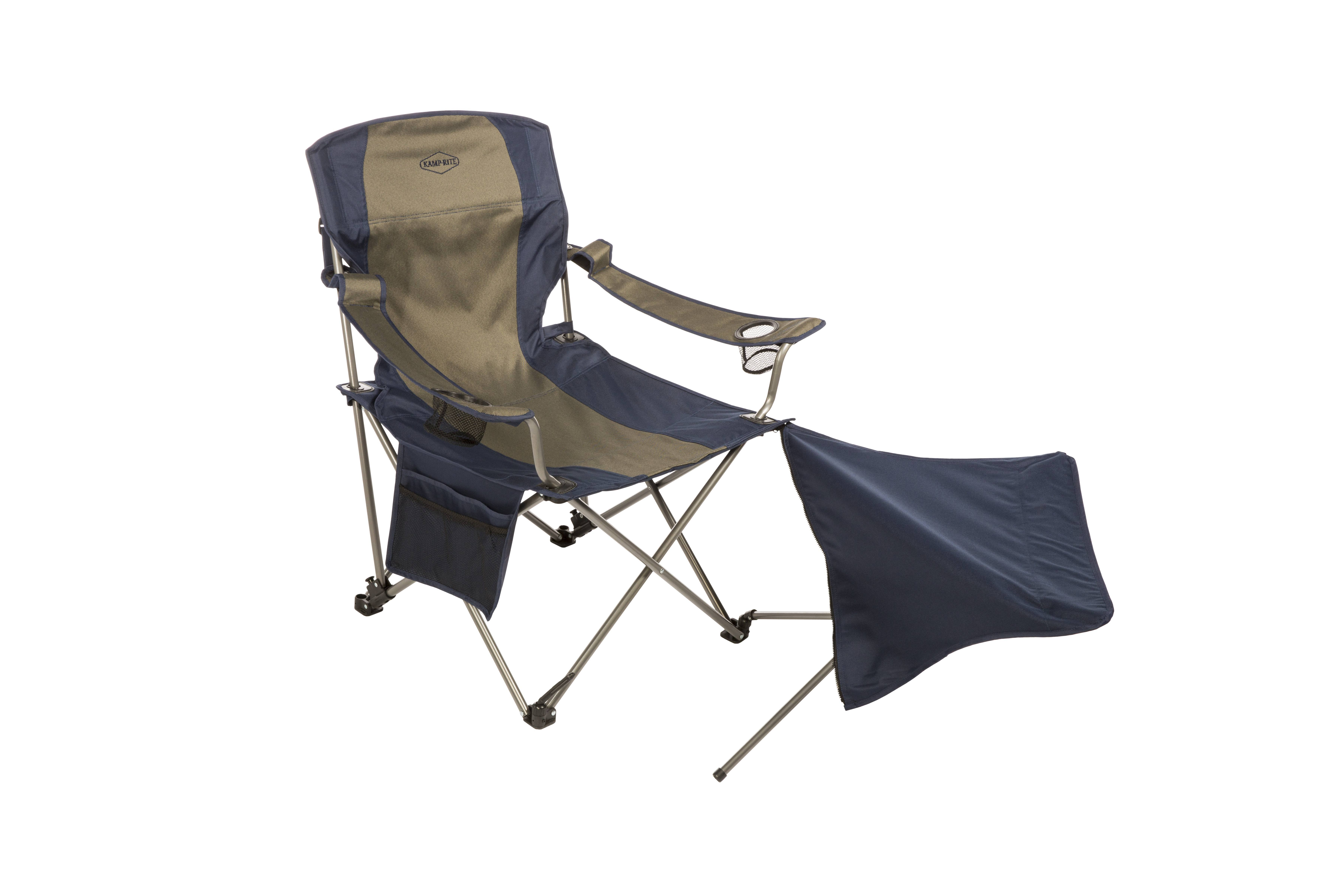easy chairs with footrests outside wedding kamp rite chair detachable footrest