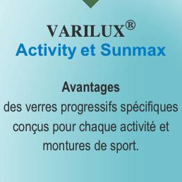 verres essilor varilux activity et sunmax pour montures cambrées