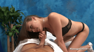 Sexy Masseuse Mum Cant Help But Suck Cock