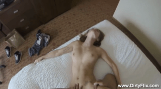 Tiny Teen Bends Over Nicely For Doggy Sex