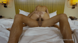 Flexing Her Leg While Making Her Moan