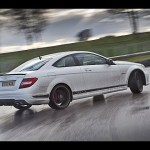 Autocar drift challenge, starring Mercedes C63 AMG and Audi R8