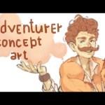 Speedpaint (Paint Tool SAI) concept art adventurer
