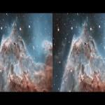 Evaporating Peaks 3D: Pillars in the Monkey Head Nebula