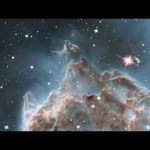 Evaporating Peaks: Pillars in the Monkey Head Nebula