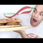تحدي اكل بيتزا برجر عملاقة الاكبر بالعالم مجموع 7000 سعرة حرارية |التحدي الاكبر|