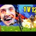 Ninja 1 VS 12 Clutch Victory Royale Win | Fortnite Clutch Moments Compilation