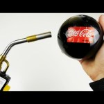 Popping Glass Coca-Cola Ball with Gas Torch – What Will Happen?