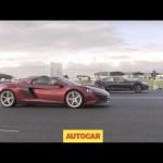 Tesla Model S P85D vs McLaren 650S | Drag Race | Autocar