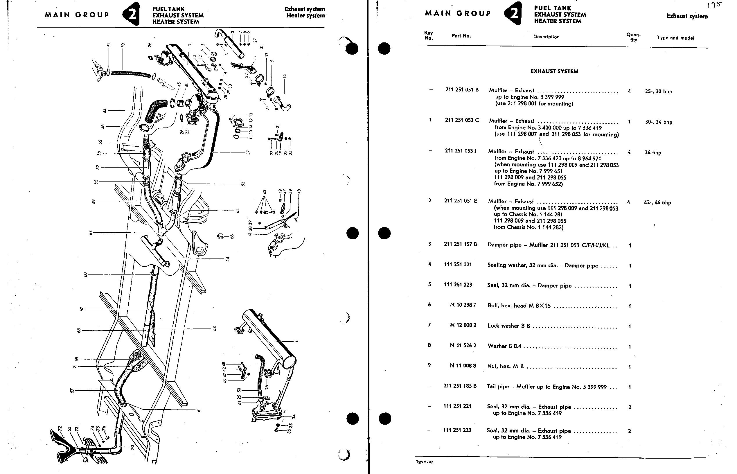 1971 vw type 2 wiring diagram