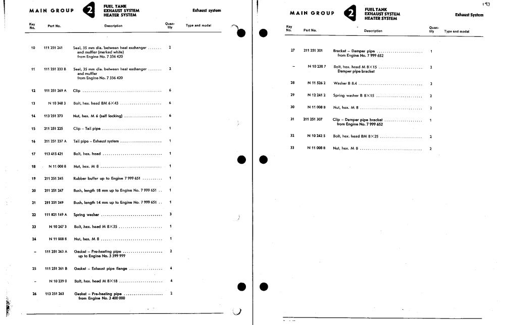 medium resolution of 197 list exhaust system