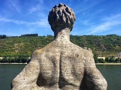 statue Andernach Geyser Rhine