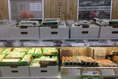 German supermarket eggs