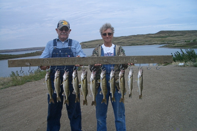Couple from Nebraska, fishing Sutton's Bay
