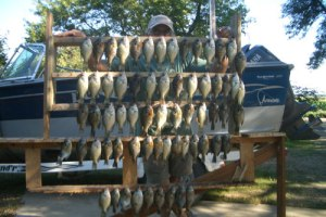 Another great day on the water, with a fine catch of crappie and gills