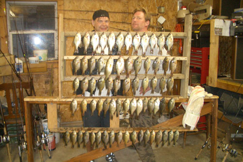 Rod from Sioux Falls and I landed these crappie and gills