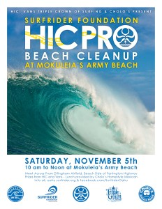 Surfrider & HIC Mokulēʻia Army Beach Cleanup @ Army Beach