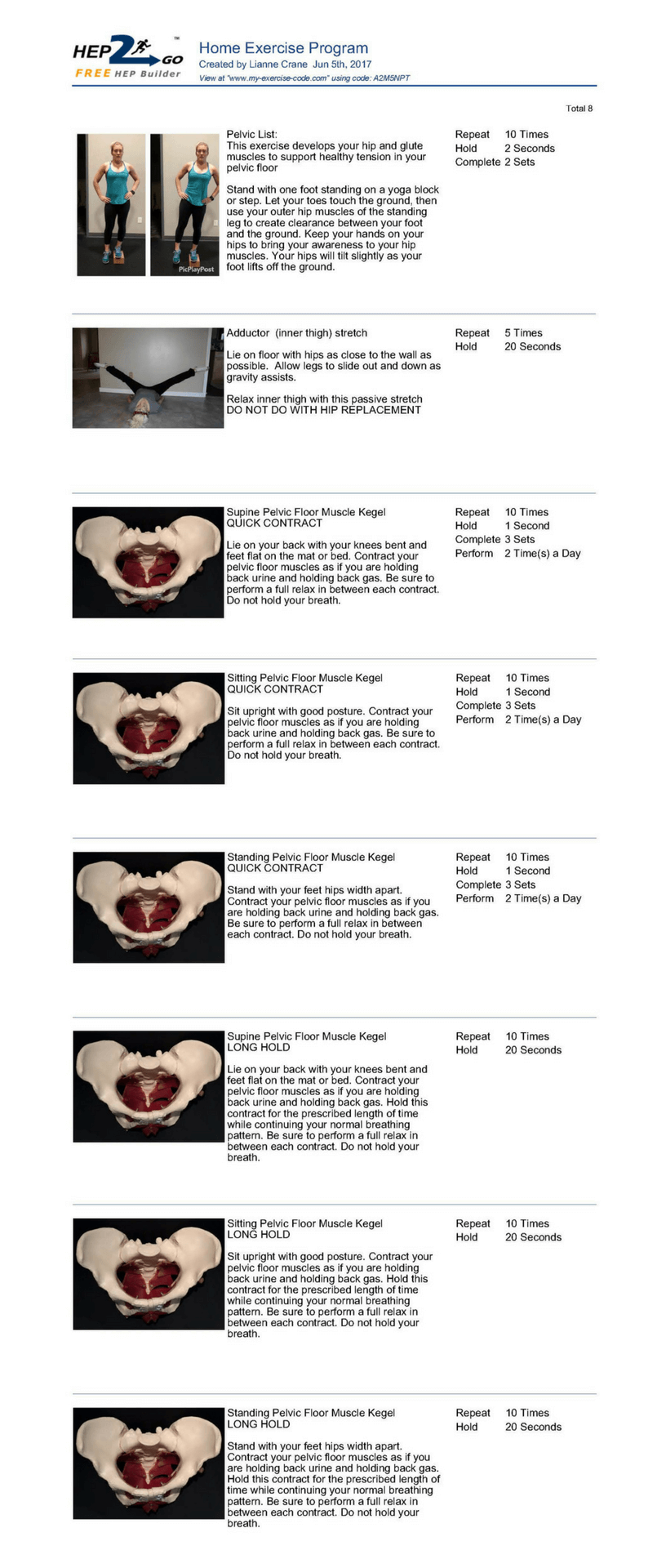 pelvic floor exercises  Oahu Spine  Rehab