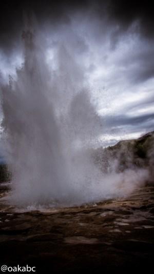 น้ำพุร้อนพุ่ง Geysir