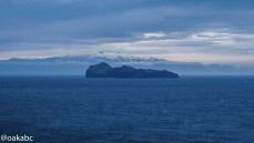 บนเกาะ Westman มองเห็น Eyjafjallajökull