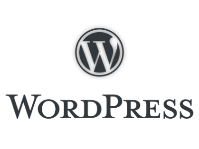 Logo sur fond transparent du CMS WordPress