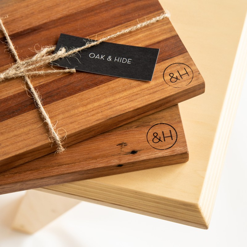Oak & Hide Sustainable Recycled Timber Chopping Boards