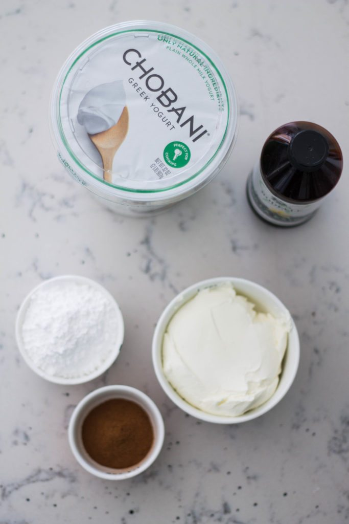 Cinnamon Fruit Dip with Chobani - just four ingredients! Perfect for Game Day or a Holiday Party!! #MadeWithChobani