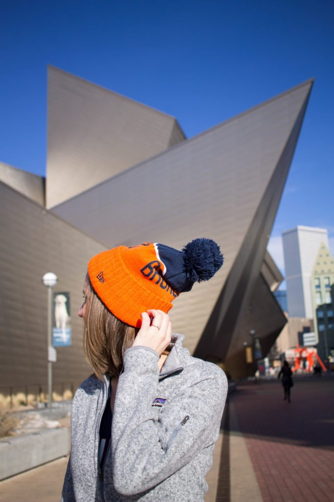 Denver Broncos style for all you Colorado Football loving girls out there!
