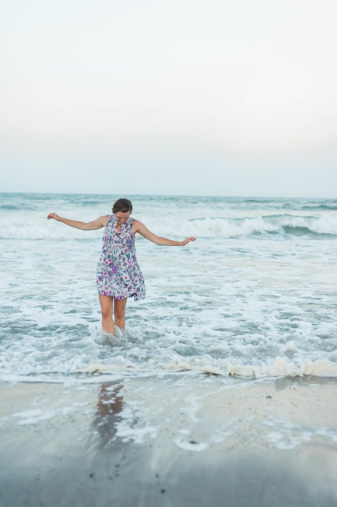 Old Navy dress on the beach in sunset!
