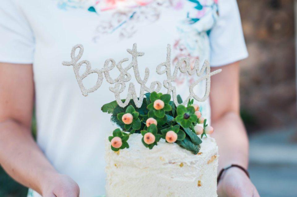 Best Day Ever cake topper for bridal shower
