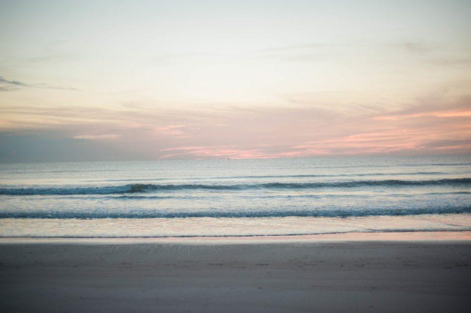 sunrise over the Atlantic ocean in Cocoa Beach, Florida