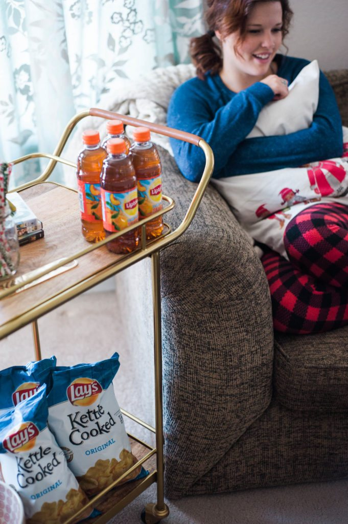 Tips for throwing a Christmas PJ Girls Night Party with @Frito-Lay - love staying cozy inside and celebrating while is is cold outside! #ad