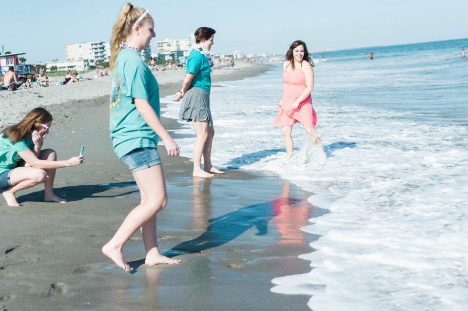 Beach Bachelorette Party - Matching Ron Jon Shirts and sunglasses!!
