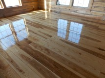 Images of Log Homes with Wood Flooring