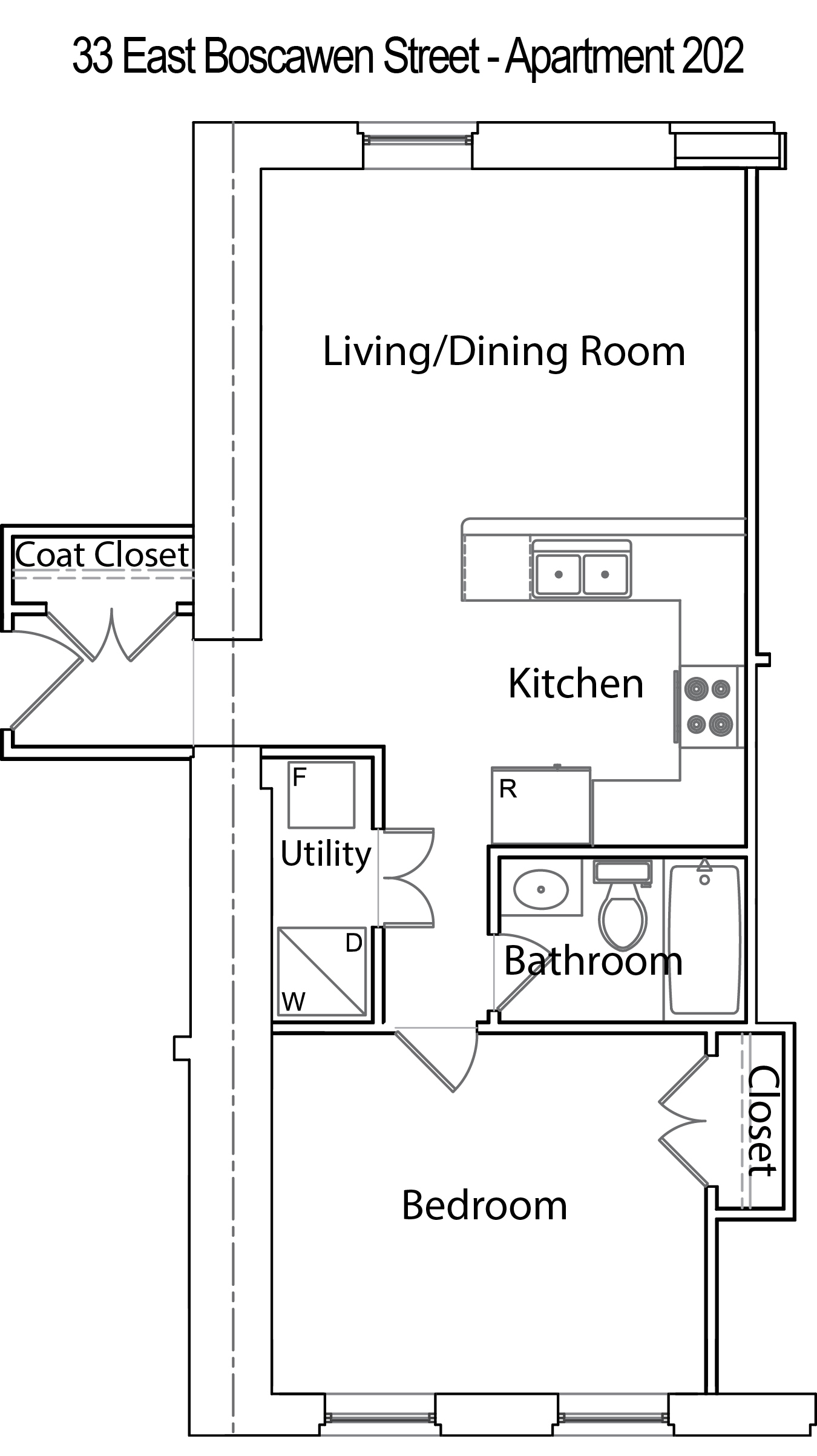 Lovely 2 bedroom garage apartment floor plans house for Garage apartment plans 1 bedroom