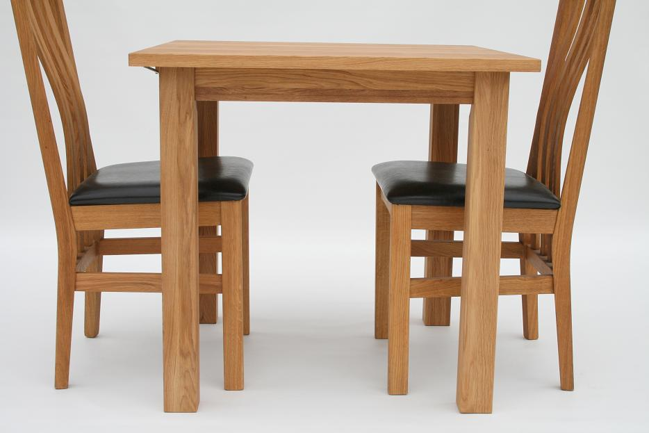 Solid Oak Dining Table 80cm X 80cm 2 Seater - Just £149