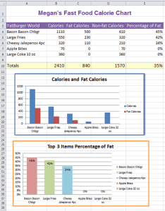 Fast food calories spreadsheet also excel nutrition facts  computer lab rh oakdome