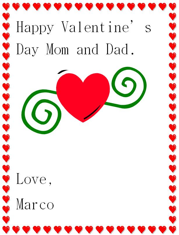 Happy Valentine's Day Greeting K5 Computer Lab