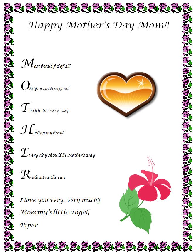 Bold Print Words Second Grade
