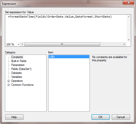 Adding Code Ssrs Report