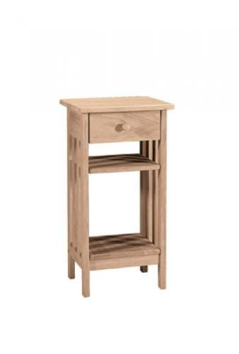 Whitewood Furniture Mission Telephone Stand Oak Factory