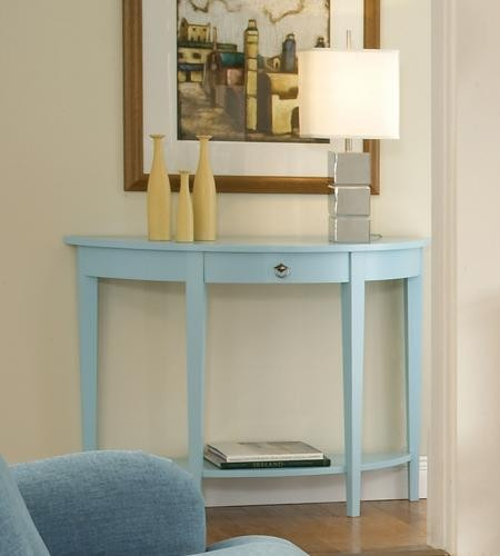 Whitewood Furniture Half Round Console Table Oak Factory