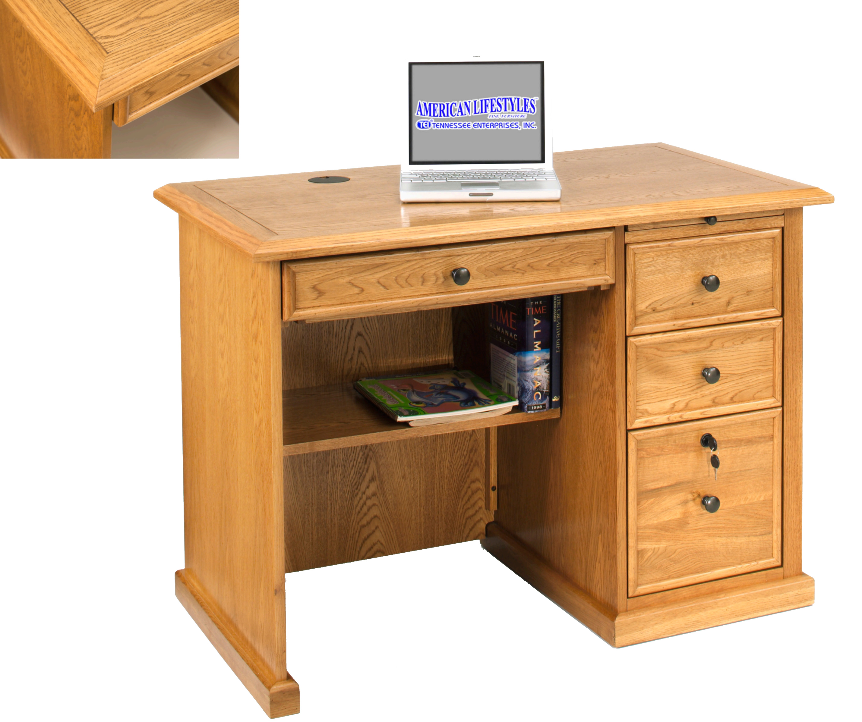 42 Flat Top Desk  Oak Factory Outlet Furniture Store