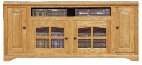 66 Oak Entertainment Console Oak Factory Outlet