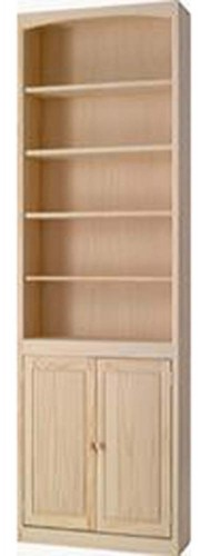 Archbold Furniture 24 Wide Pine Bookcase WDoors Oak