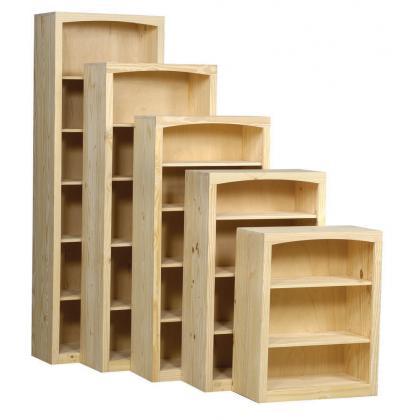 Archbold Furniture 30 Wide Pine Bookcase Oak Factory