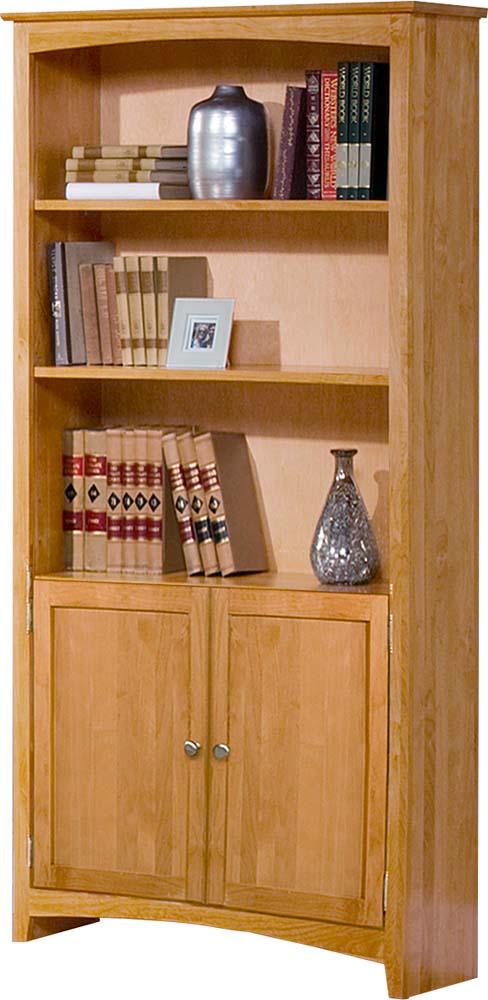 Archbold Furniture Alder 72 Bookcase W Doors Oak